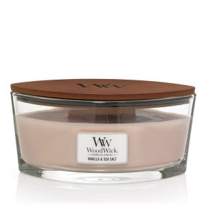 [Woodwick] Bougie Ellipse Vanilla & Sea Salt 454 G