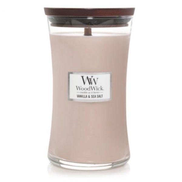 [woodwick] bougie large vanilla & sea salt 610 g