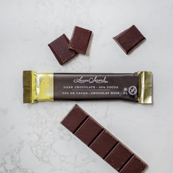 [Laura Secord] Barre Chocolat Noir 50 % Cacao 40 G