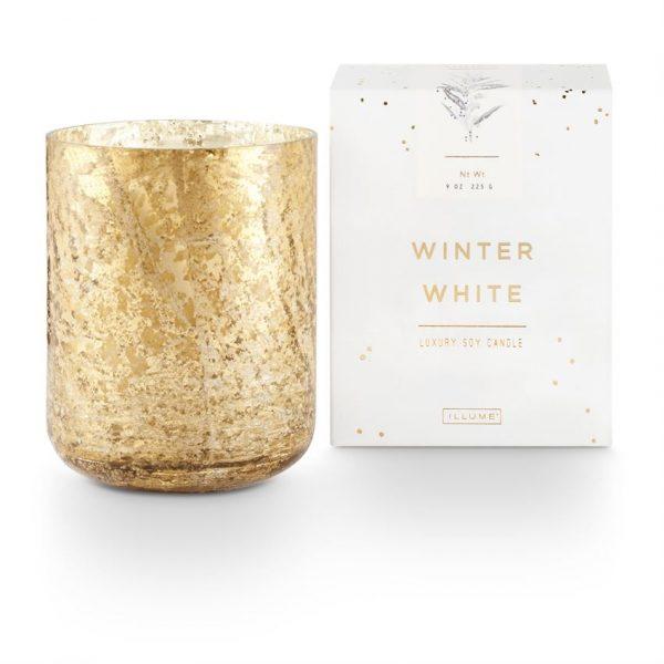 [Illume] Bougie En Verre Au Mercure Poncé De Luxe Winter White 255 G