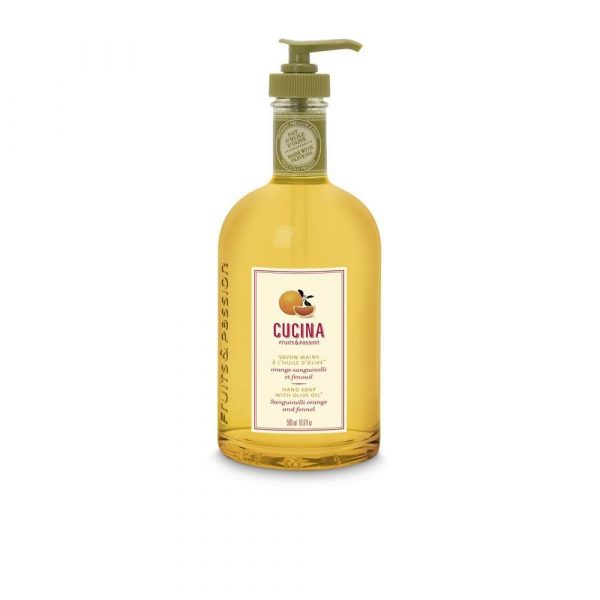 [Fruits & Passion] Savon Mains Huile Olive Orange Sanguinelli Et Fenouil 500 Ml