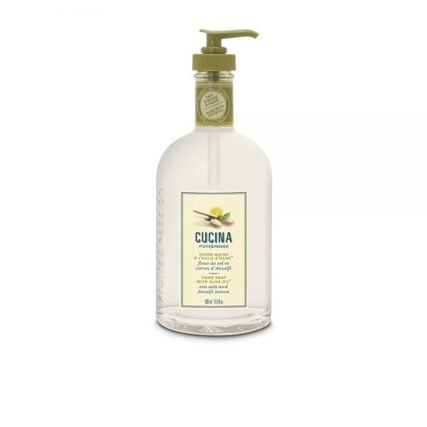 [Fruits & Passion] Savon Mains Huile Olive Fleur De Sel Et Citron 500 Ml