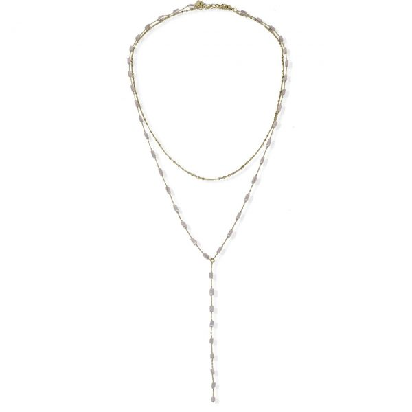 [Fab Bijoux] Collier The Riley En Rose Opal Or