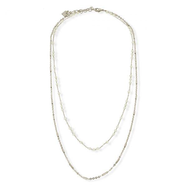[Fab Bijoux] Collier The Bailey En Blanc Opal Argent