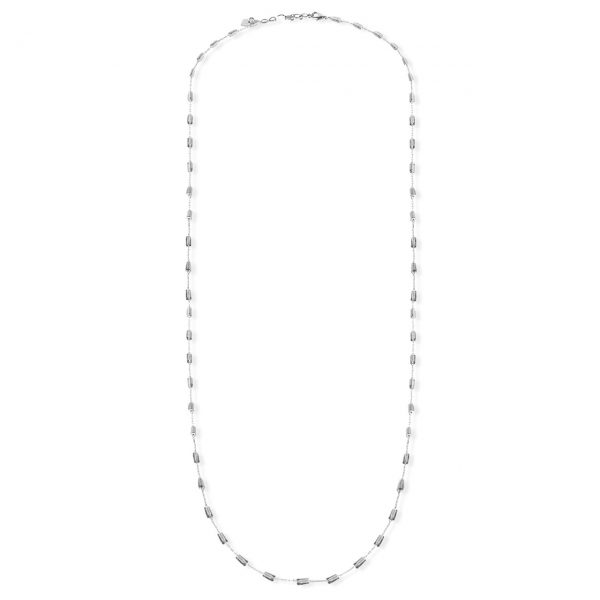 [Fab Bijoux] Collier The Addison En Diamand Noir 4 En 1 Argent