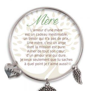 [Clock It To Ya] Bracelet De Charme Mère Argent