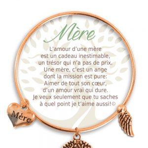 [Clock It To Ya] Bracelet De Charme Mère Cuivre