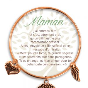 [Clock It To Ya] Bracelet De Charme Maman Cuivre
