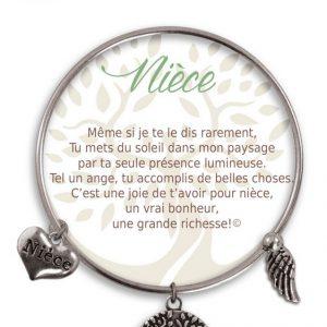 [Clock It To Ya] Bracelet De Charme Nièce Argent