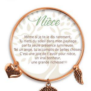 [Clock It To Ya] Bracelet De Charme Nièce Cuivre