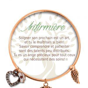 [Clock It To Ya] Bracelet De Charme Infirmière Cuivre