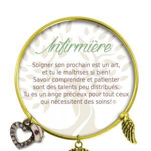 [Clock It To Ya] Bracelet De Charme Infirmière Or