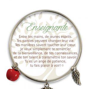[Clock It To Ya] Bracelet De Charme Enseignante Argent