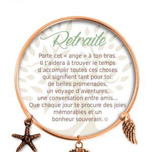 [Clock It To Ya] Bracelet De Charme Retraite Cuivre