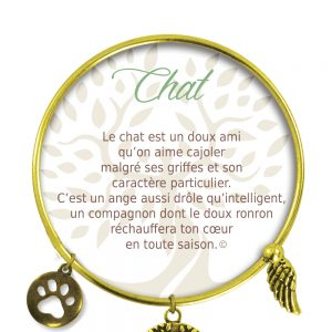 [Clock It To Ya] Bracelet De Charme Chat Or