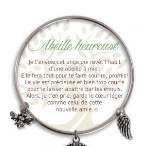 [Clock It To Ya] Bracelet De Charme Abeille Heureuse Argent