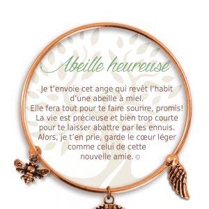 [Clock It To Ya] Bracelet De Charme Abeille Heureuse Cuivre