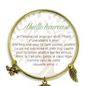 [Clock It To Ya] Bracelet De Charme Abeille Heureuse Or