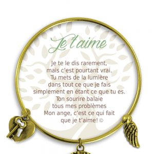 [Clock It To Ya] Bracelet De Charme Je T`aime Or