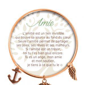 [Clock It To Ya] Bracelet De Charme Amie Cuivre