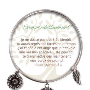 [Clock It To Ya] Bracelet De Charme Prompt Rétablissement Argent