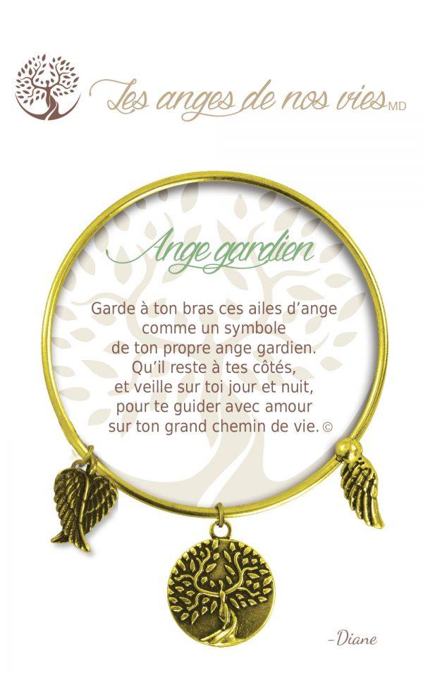 [Clock It To Ya] Bracelet De Charme Ange Gardien Or