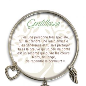[Clock It To Ya] Bracelet De Charme Gentillesse Argent