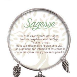 [Clock It To Ya] Bracelet De Charme Sagesse Argent