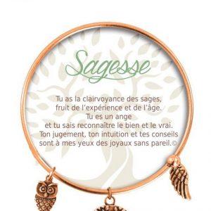 [Clock It To Ya] Bracelet De Charme Sagesse Cuivre