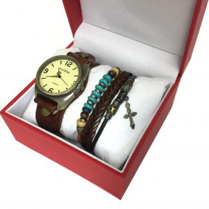 [Clock It To Ya] Ensemble Montre Ecosse Femme Lgs#84