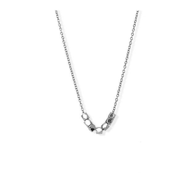 [Fab Bijoux] Collier Multi Faceted Bead Argent