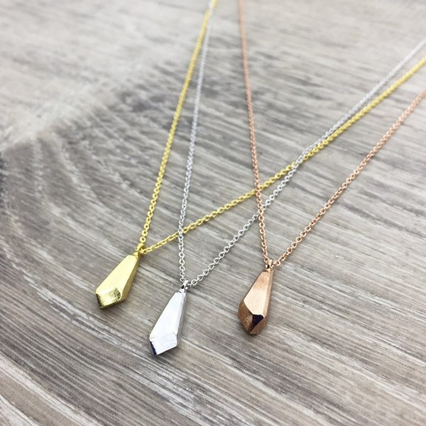 [Fab Bijoux] Collier Faced Bead Or