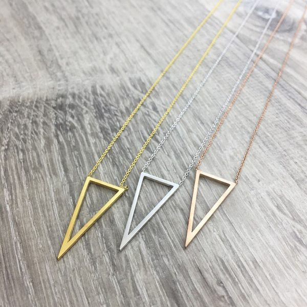 [Fab Bijoux] Collier Open Triangle Or