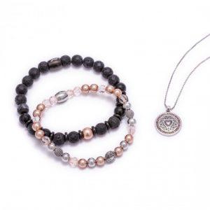 [Caroline Neron] Bracelet Noir Fondation Cancer