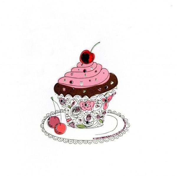 [Incognito] Carte De Souhaits - Petit Gâteau Hdt004b