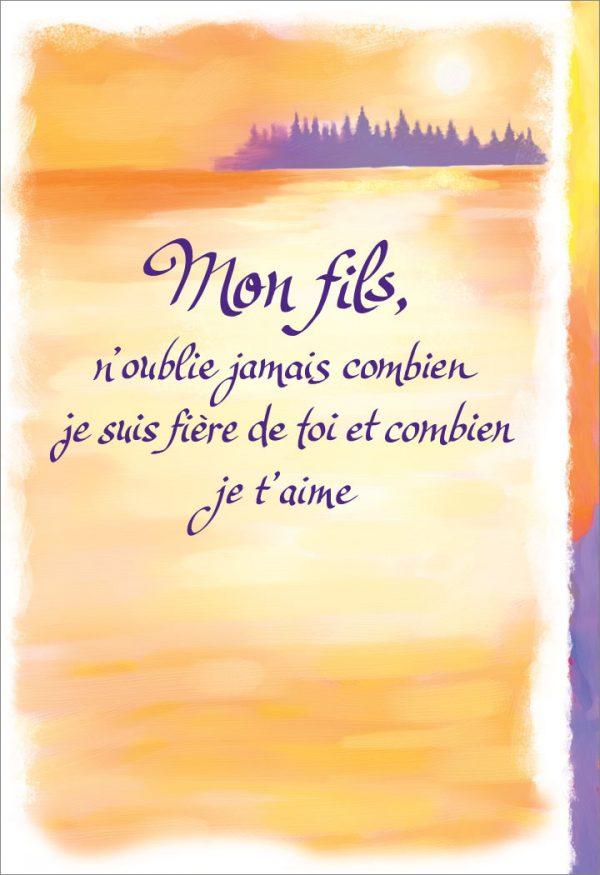 [Incognito] Carte De Souhaits - Mon Fils, N'oublie Jamais...frc308