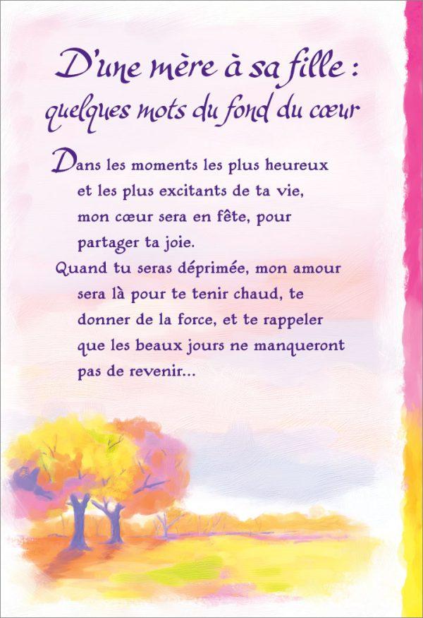 [Incognito] Carte De Souhaits - D'une Mère Á Sa Fille...frc341