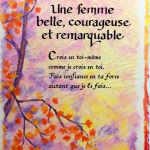 [Incognito] Carte De Souhaits - Une Femme Belle, Courageuse...frc289