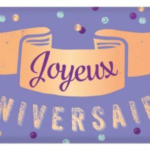 [Incognito] Tablette De Chocolat Au Lait Bio 30 G - Joyeux Anniversaire!