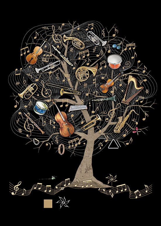 [Incognito] Carte De Souhaits Music Tree M138