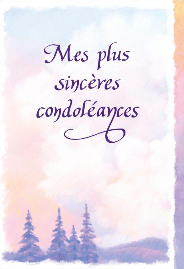 [Incognito] Carte De Souhaits - Mes Plus Sincères Condoléances Frc36