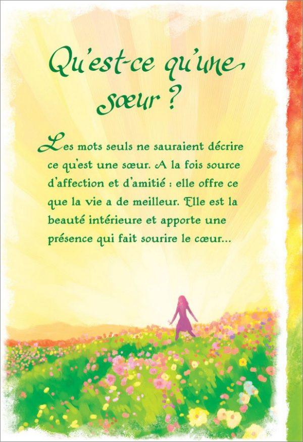[Incognito] Carte De Souhaits - Qu'est Ce Qu'une Soeur? Frc310