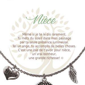 [Clock It To Ya] Collier De Charme - Nièce Argent