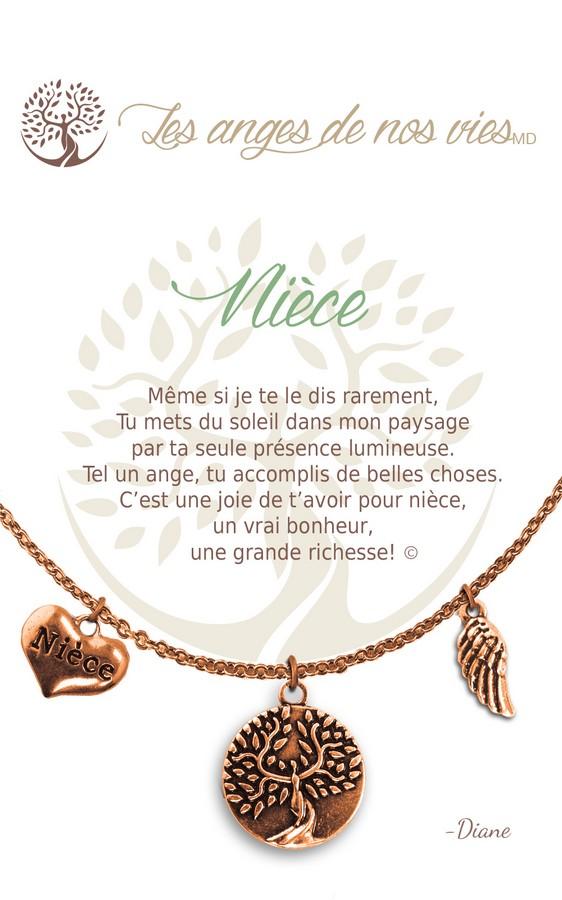 [Clock It To Ya] Collier De Charme - Nièce Cuivre