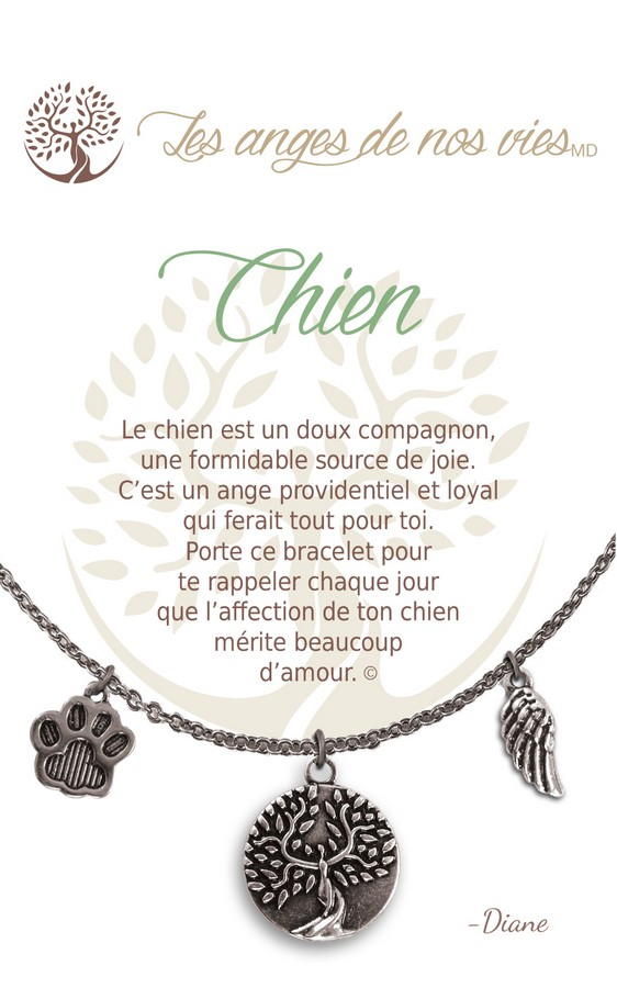 [Clock It To Ya] Collier De Charme - Chien Argent