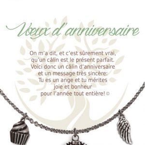 [Clock It To Ya] Collier De Charme - Voeux D'anniversaire Argent