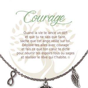 [Clock It To Ya] Collier De Charme - Courage Argent