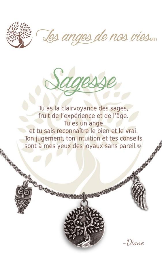 [Clock It To Ya] Collier De Charme - Sagesse Argent