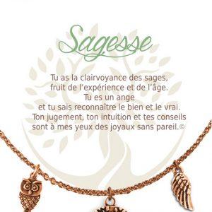 [Clock It To Ya] Collier De Charme - Sagesse Cuivre