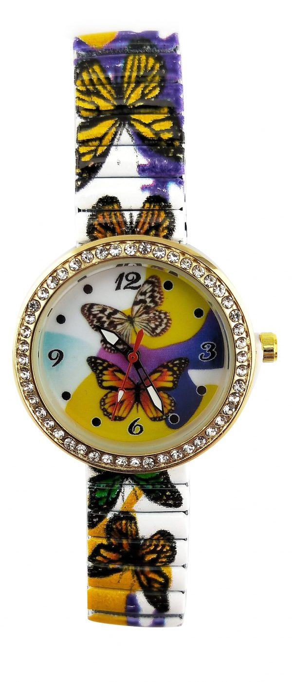 [Clock It To Ya] Montre Extensible Ecosse Femme 2066 Small-d